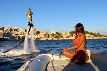 Flyboard Girlfriend Mallorca Water Sport Center @ Port Calanova